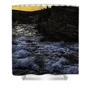 Sunrise In Many Glacier Area Shower Curtain