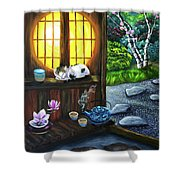 Sunrise In Moon Window Shower Curtain