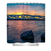 Sunrise In Motion Shower Curtain