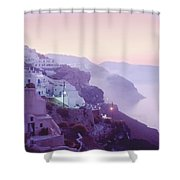 Sunrise In Oia Shower Curtain