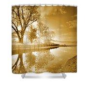 Sunrise In Sepia Shower Curtain
