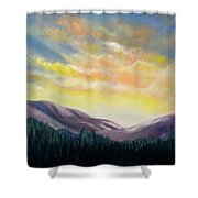 Sunrise In The Mountains Shower Curtain