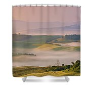 Sunrise In The Tuscany Shower Curtain