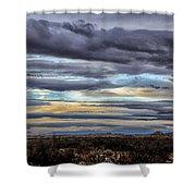 Sunrise In The Western Sky  Shower Curtain