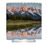 Sunrise In Wyoming Shower Curtain