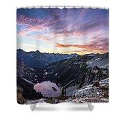 Sunrise Into The Lake Shower Curtain