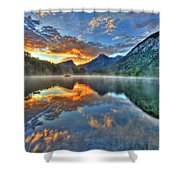 Sunrise Lake Shower Curtain