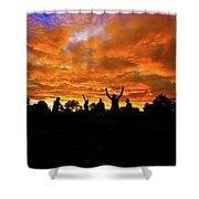 Sunrise Landscape In Tanzania Shower Curtain