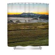 Sunrise Landscape Over Morganton Town In  North Carolina  Shower Curtain