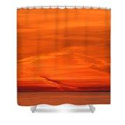 Sunrise Layers  Shower Curtain