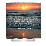 Sunrise Love Scripture Shower Curtain