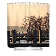 Sunrise Meredith Bay Shower Curtain