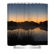 Sunrise Shower Curtain by Michael Tesar