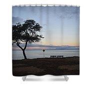 Sunrise, Moonfall Shower Curtain