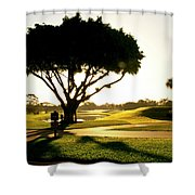 Sunrise On A Golf Course Shower Curtain