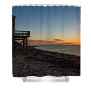Sunrise On Beach Road, Falmouth Shower Curtain