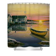 Sunrise On Blue Rocks 2 Shower Curtain