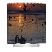 Sunrise On Boneyard Beach Shower Curtain