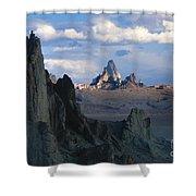 Sunrise On Church Rock  Shower Curtain