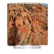 Sunrise On Colorful Sandstone In Valley Of Fire Shower Curtain
