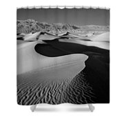 2a6856-bw-sunrise On Death Valley  Shower Curtain