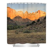 Towers Of The Virgin At Sunrise Shower Curtain