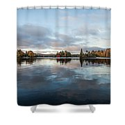 Sunrise On Fourth Lake Shower Curtain