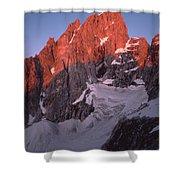 1m9380-sunrise On Grand Teton  Shower Curtain