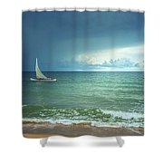 Sunrise On Indian Ocean Shower Curtain