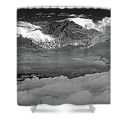 Sunrise On Kanchenjunga Bw Shower Curtain