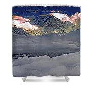 Sunrise On Kanchenjunga Shower Curtain