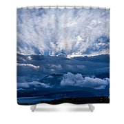 Sunrise On Lake Annecy Shower Curtain