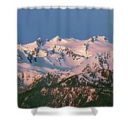 1m4120-sunrise On Mt. Olympus  Shower Curtain