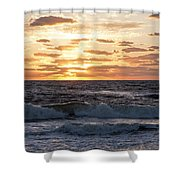 Sunrise On Pompano Beach Pompano Florida Shower Curtain