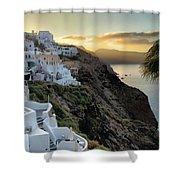 Sunrise On Santorini Shower Curtain
