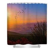 Sunrise On The Blue Ridge  Shower Curtain