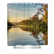 Sunrise On The Canal Shower Curtain