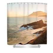 Sunrise On The Cantabrian Coast In Muskiz Shower Curtain