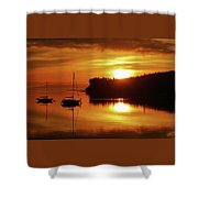 Sunrise On The Cove Shower Curtain