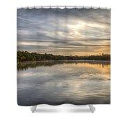 Sunrise On The Flats Shower Curtain