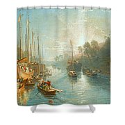 Sunrise On The Grand Canal Shower Curtain