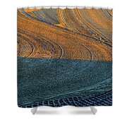 Sunrise On The Groomed Beach  Shower Curtain