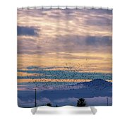 Sunrise On The Highway Shower Curtain