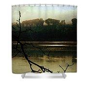 Sunrise On The Hudson River, No. 14 Shower Curtain