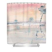 Sunrise On The Lagoon Ccxv Shower Curtain