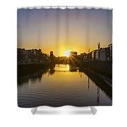Sunrise On The Liffey River - Dublin Ireland Shower Curtain