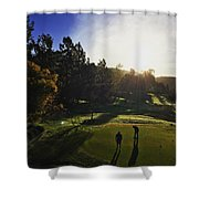 Sunrise On The Links Shower Curtain