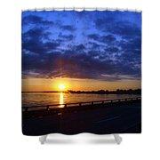 Sunrise On The Mississippi Shower Curtain