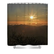 Sunrise On The Mountain Shower Curtain