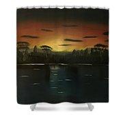 Sunrise On The Nile  Shower Curtain